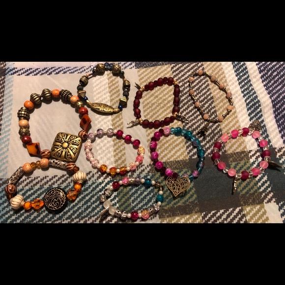 Jewelry - Lot 5 ** 9 home made bracelets